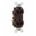 Pass & Seymour 8300-H Double Pole Heavy Duty Duplex Receptacle; Wall Mount, 125 Volt, 20 Amp, Brown