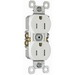 Pass & Seymour 3232-TRW tradeMaster® Tamper Resistant Double Pole Straight Blade Duplex Receptacle; Wall Mount, 125 Volt AC, 15 Amp, White