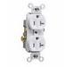 Pass & Seymour TR20-W Tamper Resistant Double Pole Duplex Receptacle; Wall Mount, 125 Volt AC, 20 Amp, White
