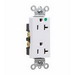 Pass & Seymour 26362-HGW Double Pole Duplex Receptacle; Wall Mount, 125 Volt, 20 Amp, White