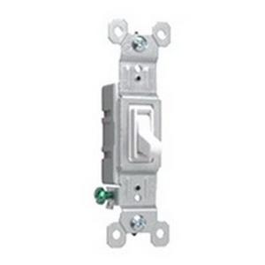 Pass & Seymour 660-WG tradeMaster® Toggle Switch; 1-Pole, 120 Volt AC, 15 Amp, White