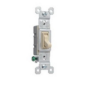 Pass & Seymour 660-IG tradeMaster® Toggle Switch; 1-Pole, 120 Volt AC, 15 Amp, Ivory