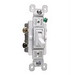 Pass & Seymour 663-WG tradeMaster® 3-Way Toggle Switch; 3-Pole, 120 Volt AC, 15 Amp, White