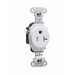 Pass & Seymour TR5351-W Tamper Resistant Double Pole Single Receptacle; Wall Mount, 125 Volt AC, 20 Amp, White