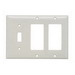 Pass & Seymour SP1262-W 3-Gang Standard-Size Combination Wallplate; Wall Mount, Thermoset Plastic, White