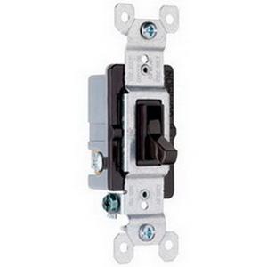 Pass & Seymour 663-G tradeMaster® 3-Way Toggle Switch; 3-Pole, 120 Volt AC, 15 Amp, Brown