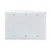 Pass & Seymour SP33-W 3-Gang Standard-Size Mounted Blank Wallplate; Box Mount, Thermoset Plastic, White