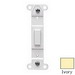 Pass & Seymour 80700-I 1-Gang No Hole Blank Toggle Wallplate Adapter; Box Mount, Thermoset Plastic, Ivory