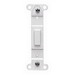 Pass & Seymour 80700-W 1-Gang No Hole Blank Toggle Wallplate Adapter; Box Mount, Thermoset Plastic, White
