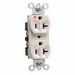 Pass & Seymour IG5362-LA Double Pole Isolated Ground Straight Blade Duplex Receptacle; Wall Mount, 125 Volt, 20 Amp, Light Almond