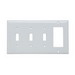 Pass & Seymour SP326-W 4-Gang Standard-Size Combination Wallplate; Wall Mount, Thermoset Plastic, White
