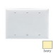 Pass & Seymour SP33-I 3-Gang Standard-Size Mounted Blank Wallplate; Box Mount, Thermoset Plastic, Ivory
