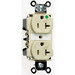 Pass & Seymour 8300-I Double Pole Duplex Receptacle; Wall Mount, 125 Volt, 20 Amp, Ivory