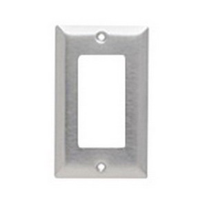 Pass & Seymour SL26 1-Gang Standard-Size GFCI Decorator Wallplate; Wall Mount, Stainless Steel, Silver