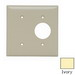 Pass & Seymour SP147-I 2-Gang Standard-Size Combination Wallplate; Strap Mount, Thermoset Plastic, Ivory