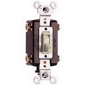 Pass & Seymour 664-LAG tradeMaster® 4-Way Toggle Switch; 4-Pole, 120 Volt AC, 15 Amp, Light Almond