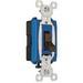 Pass & Seymour CS15AC1 Heavy Duty Grade Toggle Switch; 1-Pole, 120/277 Volt AC, 15 Amp, Brown