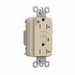 Pass & Seymour 2095-HGTRI Double Pole GFCI Receptacle; Wall Mount, 125 Volt, 20 Amp, Ivory