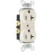 Pass & Seymour 5362-W Double Pole Straight Blade Duplex Receptacle; Wall Mount, 125 Volt, 20 Amp, White