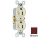 Pass & Seymour 3232-S tradeMaster® Tamper Resistant Double Pole Self-Grounding Straight Blade Duplex Receptacle; Wall Mount, 125 Volt AC, 15 Amp, Brown