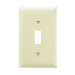 Pass & Seymour TP1-I tradeMaster® 1-Gang Standard-Size Toggle Switch Wallplate; Wall Mount, Thermoplastic Nylon, Ivory