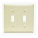 Pass & Seymour TP2-I tradeMaster® 2-Gang Standard-Size Toggle Switch Wallplate; Wall Mount, Thermoplastic Nylon, Ivory