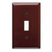 Pass & Seymour TP1 tradeMaster® 1-Gang Standard-Size Toggle Switch Wallplate; Wall Mount, Thermoplastic Nylon, Brown