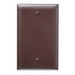 Pass & Seymour TP13 tradeMaster® 1-Gang Standard-Size Mounted Blank Wallplate; Box Mount, Thermoplastic, Brown