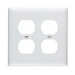 Pass & Seymour TP82-W tradeMaster® 2-Gang Standard-Size Duplex Receptacle Wallplate; Wall Mount, Nylon, White