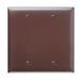 Pass & Seymour TP23 tradeMaster® 2-Gang Standard-Size Mounted Blank Wallplate; Box Mount, Thermoplastic, Brown