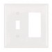 Pass & Seymour TP126-W trademaster® 2-Gang Standard-Size Combination Wallplate; Wall Mount, Thermoplastic Nylon, White