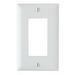 Pass & Seymour TP26-W tradeMaster® 1-Gang Standard-Size GFCI Decorator Wallplate; Wall Mount, Nylon, White