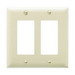 Pass & Seymour TP262-I tradeMaster® 2-Gang Standard-Size GFCI Decorator Wallplate; Wall Mount, Nylon, Ivory