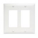 Pass & Seymour TP262-W tradeMaster® 2-Gang Standard-Size GFCI Decorator Wallplate; Wall Mount, Nylon, White