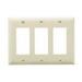 Pass & Seymour TP263-I tradeMaster® 3-Gang Standard-Size GFCI Decorator Wallplate; Wall Mount, Nylon, Ivory