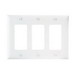 Pass & Seymour TP263-W tradeMaster® 3-Gang Standard-Size GFCI Decorator Wallplate; Wall Mount, Nylon, White