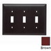 Pass & Seymour TP3 tradeMaster® 3-Gang Standard-Size Toggle Switch Wallplate; Wall Mount, Thermoplastic, Brown