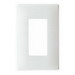 Pass & Seymour SWP26-W 1-Gang Screwless Decorator Wallplate with Subplate; Wall Mount, Plastic, White