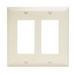 Pass & Seymour TP262-LA tradeMaster® 2-Gang Standard-Size GFCI Decorator Wallplate; Wall Mount, Nylon, Light Almond