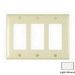 Pass & Seymour TP263-LA tradeMaster® 3-Gang Standard-Size GFCI Decorator Wallplate; Wall Mount, Nylon, Light Almond