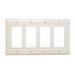 Pass & Seymour TP264-LA tradeMaster® 4-Gang Standard-Size GFCI Decorator Wallplate; Wall Mount, Nylon, Light Almond