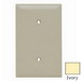 Pass & Seymour TP14-I tradeMaster® 1-Gang Standard-Size Mounted Blank Wallplate; Strap Mount, Nylon, Ivory