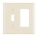 Pass & Seymour TP126-LA trademaster® 2-Gang Standard-Size Combination Wallplate; Wall Mount, Thermoplastic Nylon, Light Almond