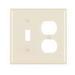 Pass & Seymour TP18-LA trademaster® 2-Gang Standard-Size Combination Wallplate; Wall Mount, Thermoplastic Nylon, Light Almond