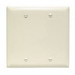 Pass & Seymour TP23-LA tradeMaster® 2-Gang Standard-Size Mounted Blank Wallplate; Box Mount, Thermoplastic, Light Almond