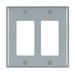 Pass & Seymour TP262-GRY tradeMaster® 2-Gang Standard-Size GFCI Decorator Wallplate; Wall Mount, Nylon, Gray