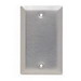 Pass & Seymour SL13 1-Gang Standard-Size Mounted Blank Wallplate; Box Mount, 430 Stainless Steel, Silver