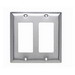 Pass & Seymour SL262 2-Gang Standard-Size GFCI Decorator Wallplate; Wall Mount, Stainless Steel, Silver