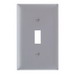 Pass & Seymour TP1-GRY tradeMaster® 1-Gang Standard-Size Toggle Switch Wallplate; Wall Mount, Thermoplastic Nylon, Gray