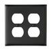 Pass & Seymour TP82-BK tradeMaster® 2-Gang Standard-Size Duplex Receptacle Wallplate; Wall Mount, Nylon, Black